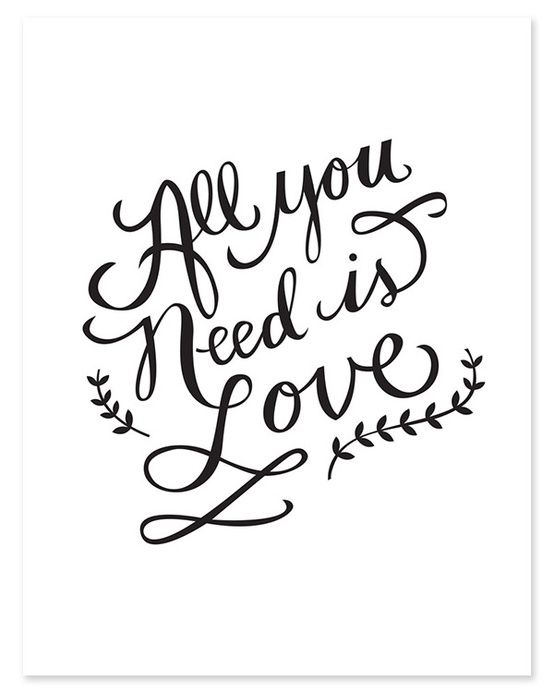 All you need is love <3