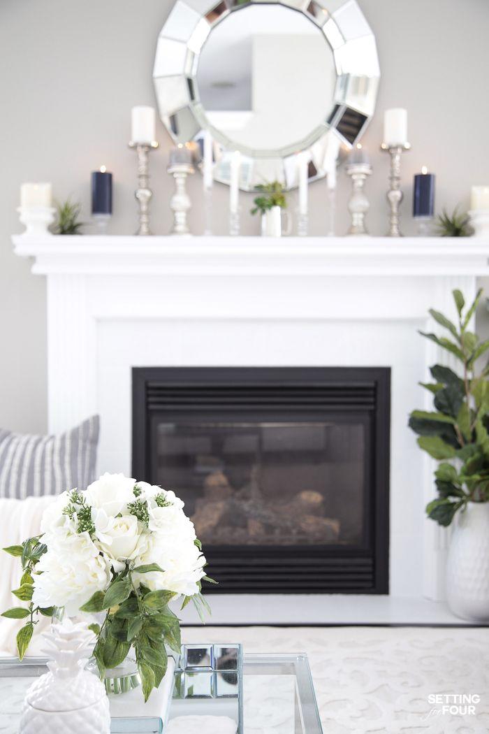 5 Elegant Summer Mantel Decor Ideas Summer Living Room Decor