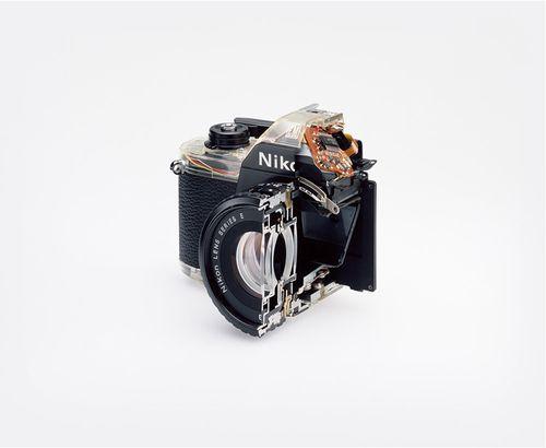 Cutaway model Nikon EM, 2008  Christopher Williams
