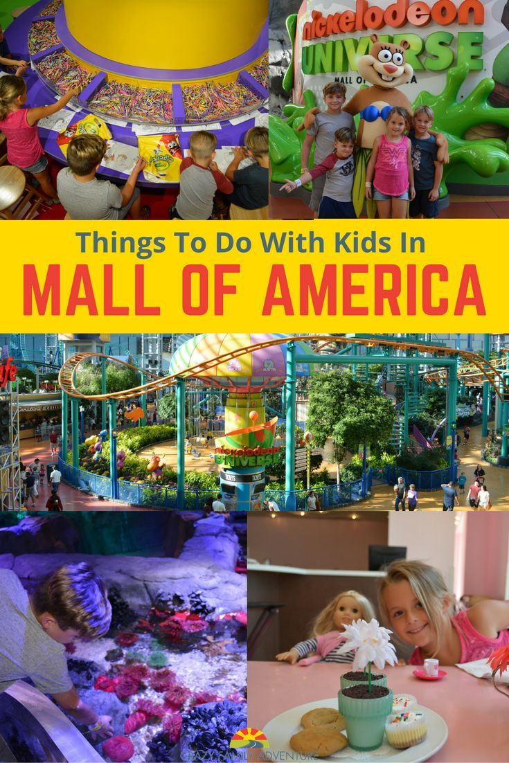 There are so many fun and cool things to do with your kids at Mall of America!