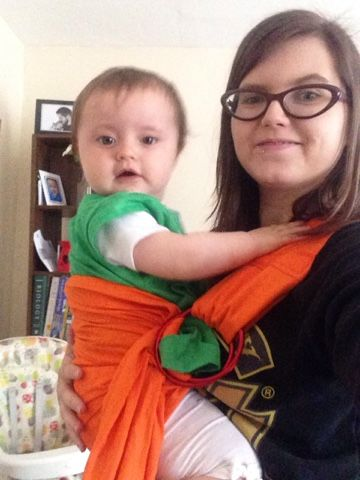 Mum of a Premature Baby: Babywearing with Rockin' Baby
