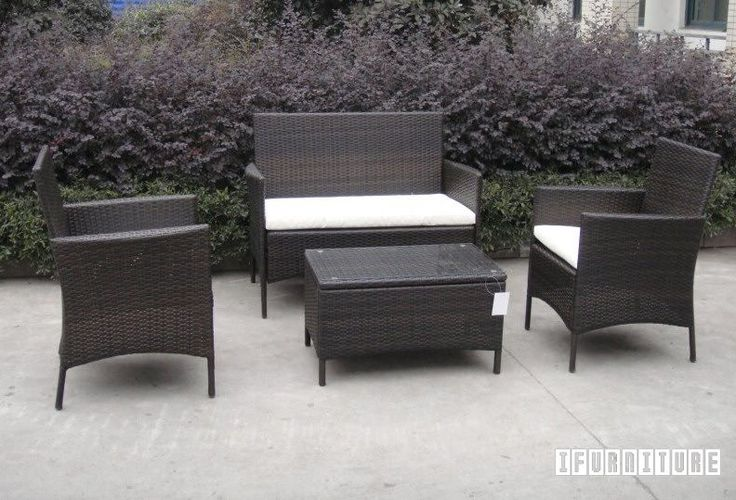 ALPINE Rattan Outdoor 4 PC Sofa And Coffee Table Set *Dark Color , Outdoor, NZ's Largest Furniture Range with Guaranteed Lowest Prices: Bedroom Furniture, Sofa, Couch, Lounge suite, Dining Table and Chairs, Office, Commercial & Hospitality Furniturte