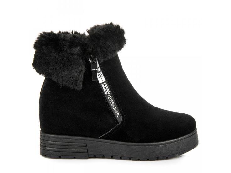 Čierne čižmy na platforme Ariana