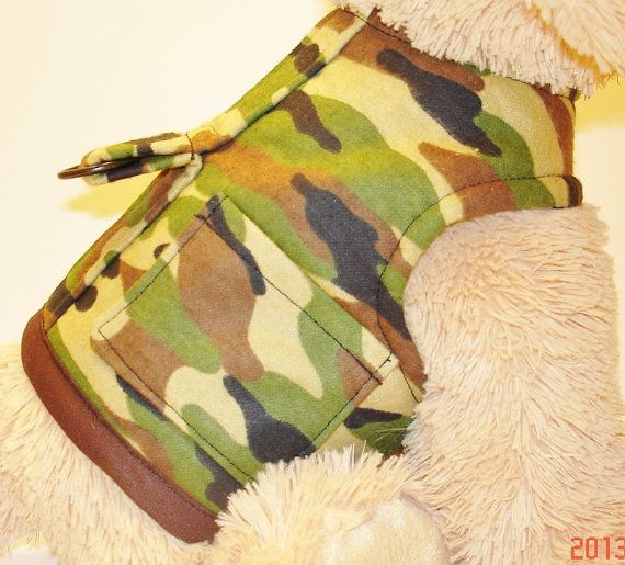 Dog Clothes Camo Gear Pet Harness Camouflage by ChicCanineCouture, $35.00