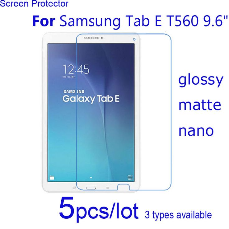 "5pcs/lot Clear/Matte/Nano Protective Films For Samsung Pad Tab E T560 T561 9.6""/Tab A 10.1 2016 T580 T585 Screen Protector Guard #Affiliate"