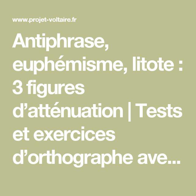 Antiphrase, euphémisme, litote :  3 figures d'atténuation | Tests et exercices d'orthographe avec le Projet Voltaire