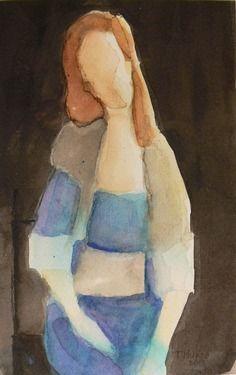 "Saatchi Online Artist Teresa Munoz; Painting, ""Sin Palabras - apropiacionismo"" #art"
