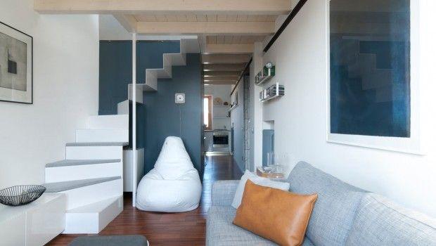 Tandartspraktijk wordt klein appartement met zonnige keuken
