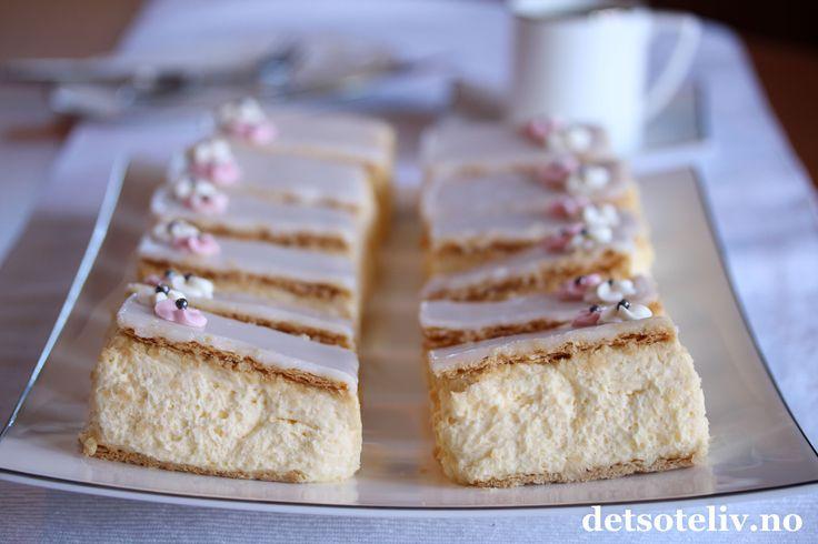 Hei dere! Det er helg, og hva med å kose seg med en skikkelig klassiker: Napoleonskake! Knasende butterdeig, store mengder silkemyk vaniljekremfromasj og melisglasur med et hint av rom … Napoleonskake er virkelig det beste som finnes!