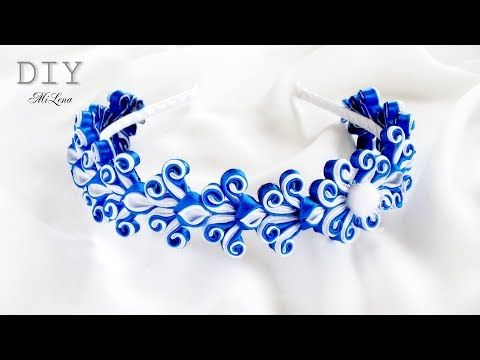 "НОВОГОДНИЙ ОБОДОК ""ЗИМНИЕ УЗОРЫ-2"", МК / DIY Christmas Headband - YouTube"