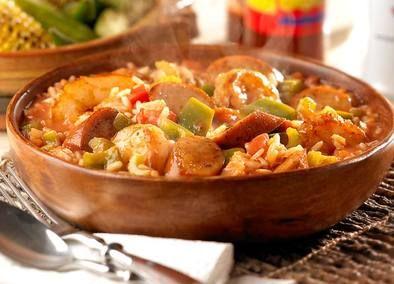 Cajun Chicken Sausage Jambalaya  Make it fix friendly!  Sub turkey sausage for andouille.  Brown rice for white rice!