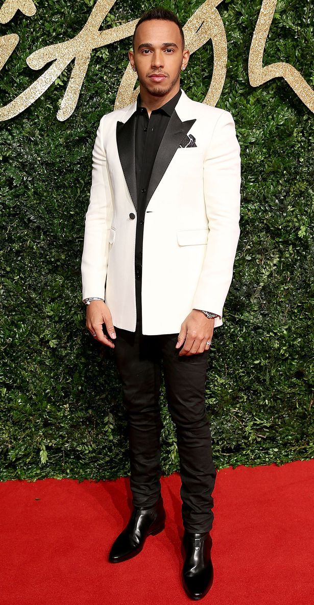 Lewis Hamilton attends the British Fashion Awards 2015 at London Coliseum on November 23, 2015 in London, England