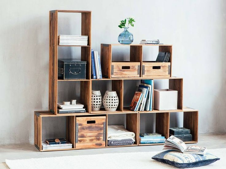 Stackable shelves are so simple yet so functional and beautiful.  On our floor now!