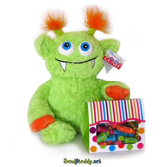 Surprice your kid with a cute monster :) #sendateddy #teddybears http://www.sendateddy.net/gund-teddy-bears.php#!/Monster-&-Candy/p/43161813/category=10946161