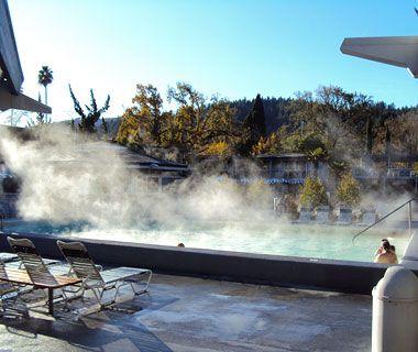 Calistoga California, Natural hot springs,