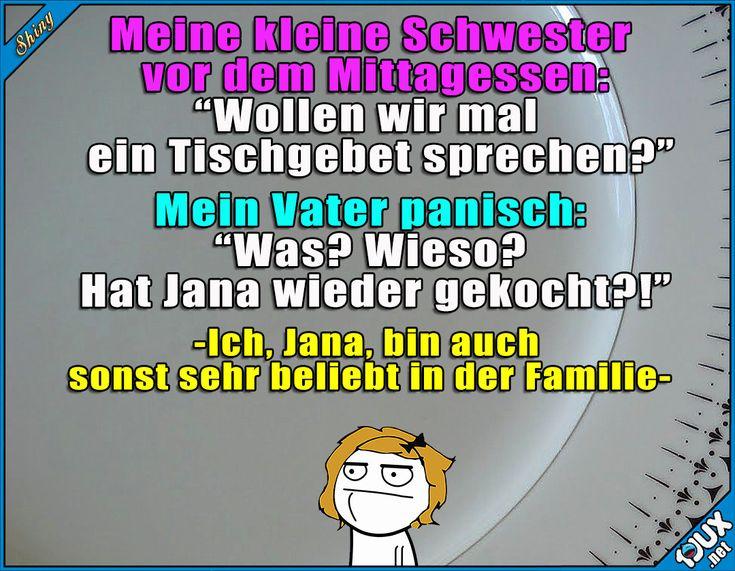 Angst vor den Kochkünsten x.x #kochen #essen #Humor #gemein #Sprüche #lachen #Witze #lustigeBilder #Angst #Tochter #Memes #lustigeMemes