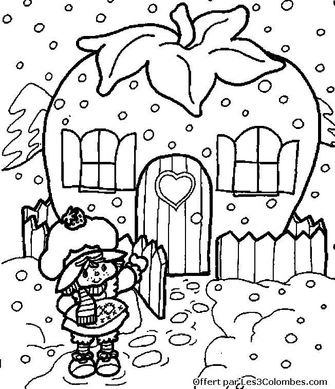 Coloriage charlotte aux fraises colorier dessin imprimer charlotte la fraise - Dessin charlotte aux fraises ...