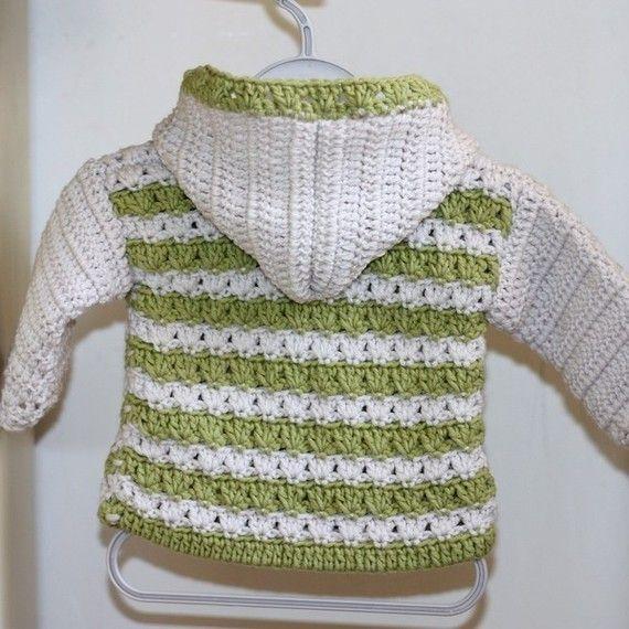 Crochet patrones chaqueta con capucha de por monpetitviolon