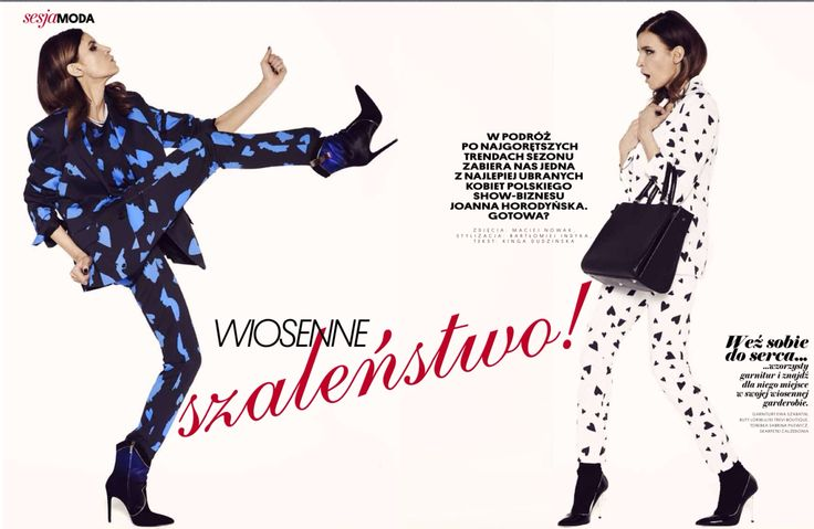 Stylist Joanna Horodyńska in both Shabatin suits.