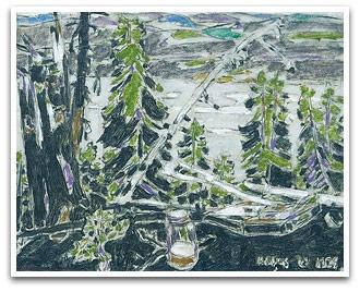 David B. Milne (1882-1953) Painting Place No. 1 1926
