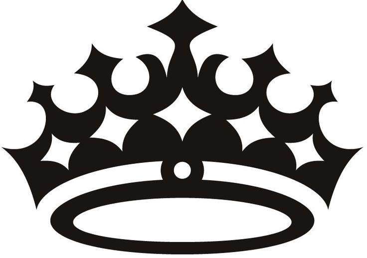 Черно-белая картинка короны