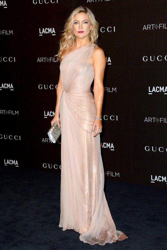 LACMA Art + Film Gala - Kate Hudson in a Gucci pale pink asymmetric gown