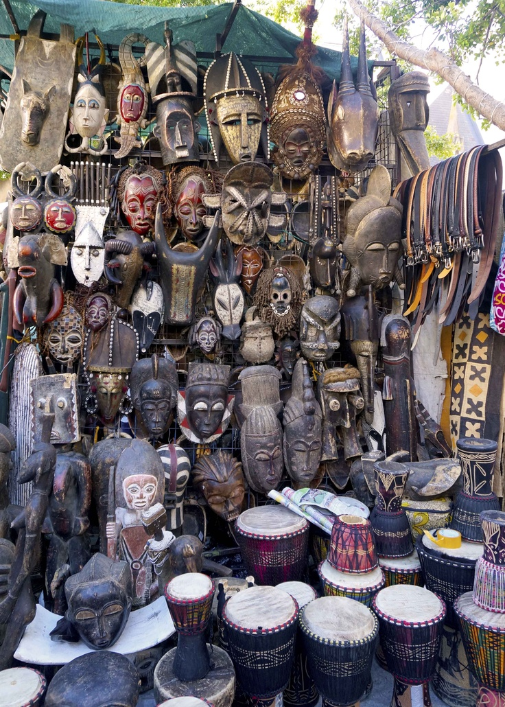 Masks - at Greenmarket Square, Cape Town