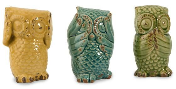 Wise Owls - Set of 3