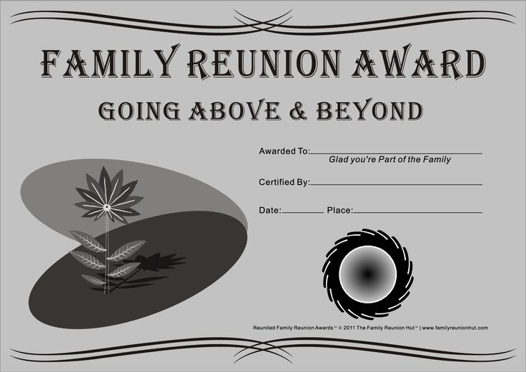 14 best printables images on pinterest family gatherings family meeting and family reunions for Free printable family reunion certificates