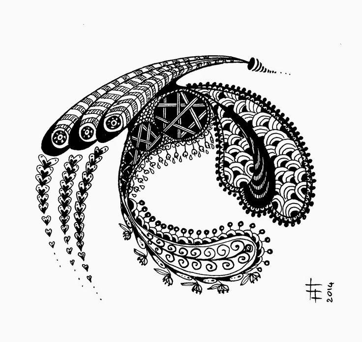 #zentangle #tangle #doodle #ink on paper (c)FabrizioLorito2014