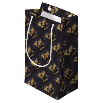 World Map Gift Bags.World Map Black Yellow Small Gift Bag Small Gift Bags
