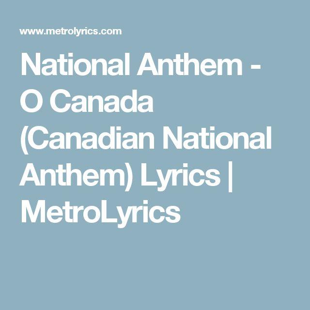 O Canada (Canadian National Anthem