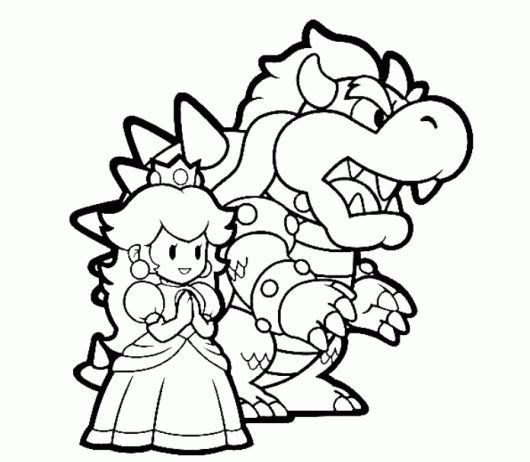 bowser and princess peach mario coloring pages definitely doing mario coloring pages super. Black Bedroom Furniture Sets. Home Design Ideas