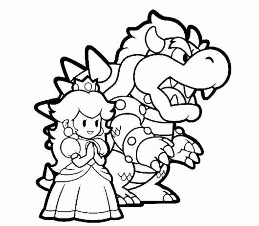Bowser And Princess Peach Mario