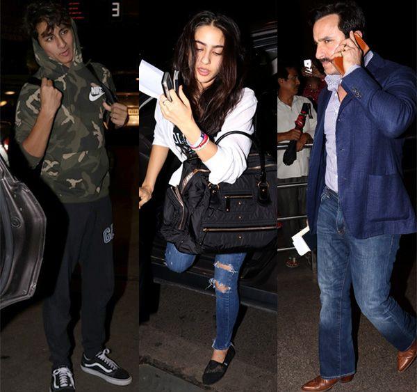 Saif Leaves For IIFA With Sara And Ibrahim But What About Kareena??? :http://gagbrag.com/saif-leaves-for-iifa-with-sara-and-ibrahim-but-what-about-kareena/