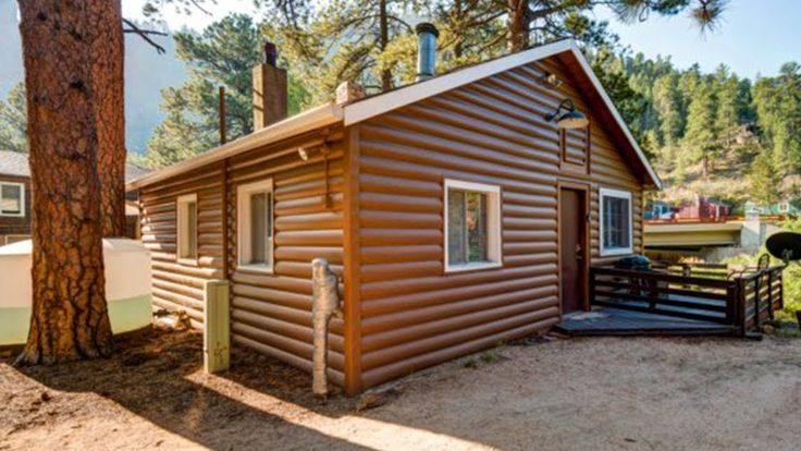 1920's Log Cabin For Sale in Drake, Colorado | Small House Design