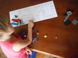 Perfect! Lego game with a free printable board. I know what we're doing today.