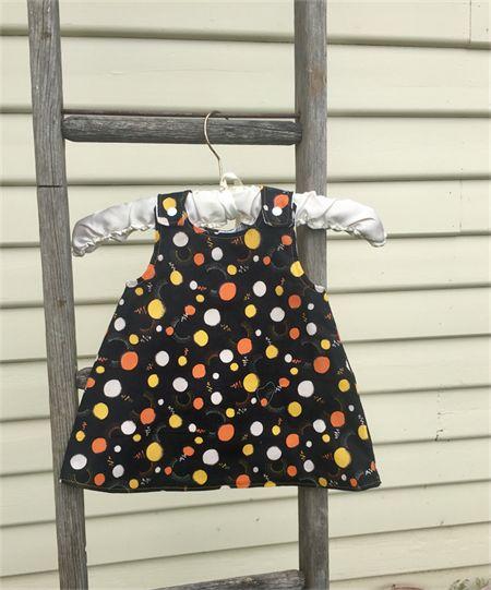 Reversible pinafore dress 6-12mths