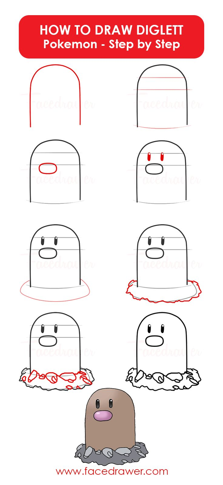 Easy Step By Step Drawing Tutorial: Best 20+ Draw Pokemon Ideas On Pinterest