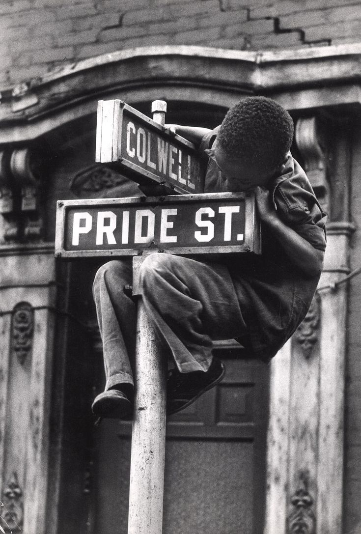 "Pride Street photo by W. Eugene Smith, 1955 An example of the old saying ""A picture is worth a thousand words"""