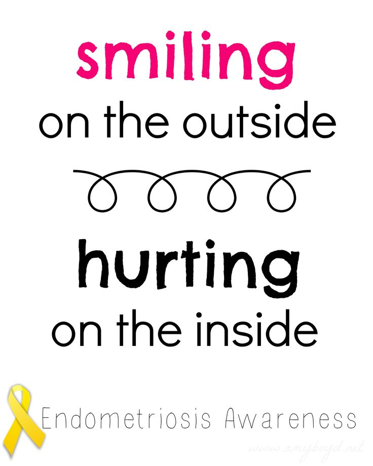 March is Endometriosis Awareness Month. Raise awareness to find a cure. <3