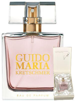 Guido Maria Kretschmer Dam parfym, Guido Maria Kretschmer. Dam Parfym 50 ml.  Toppnot: Bergamott, mandarin, plommon, päron. Mellannot: Ros, jasmin, apelsinblomma, lotus. Basnot: Dry amber, sandelträ. vanilj, mysk