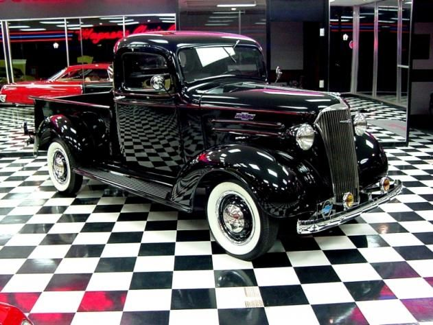 chevrolet pickup truck black 6 cylinder manual 2 wheel drive love the white wall tires