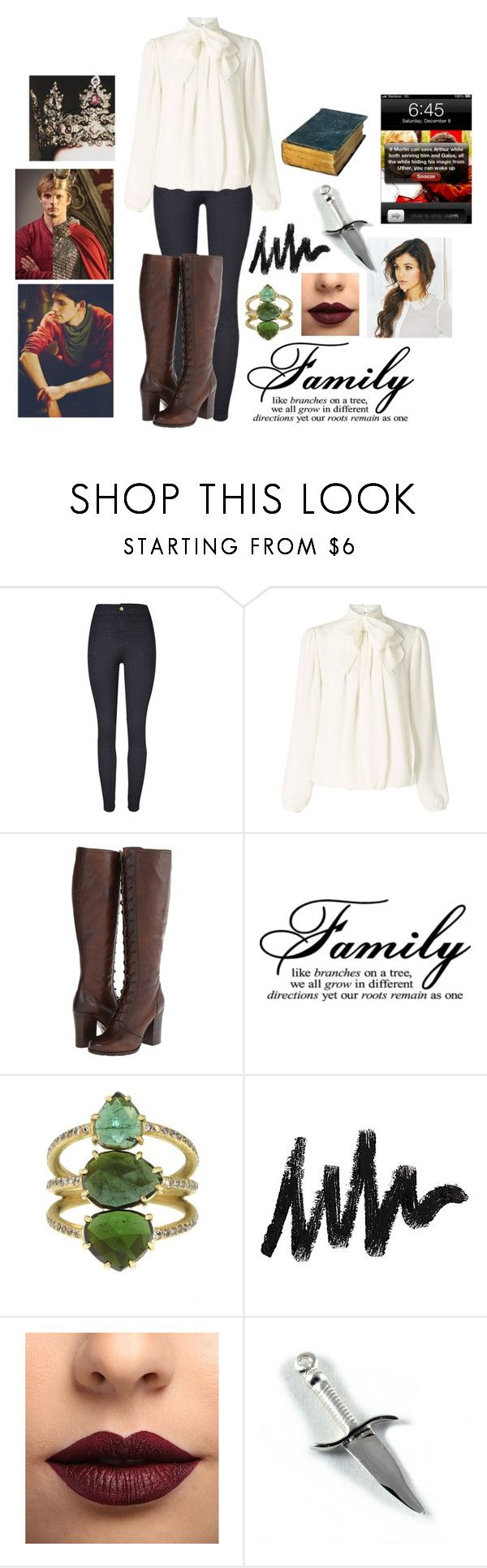 """""""Jessica Pendragon// Riding with Merlin"""" by jessicalittlestar ❤ liked on Polyvore featuring Somerset by Alice Temperley, Frye, LASplash and Arthur King"""