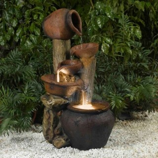 The Pentole Pot Water Fountain is an ideal blend of contemporary design with old-world sculpture. With its rustic charm, this water fountain will be the center of attention wherever you place it.