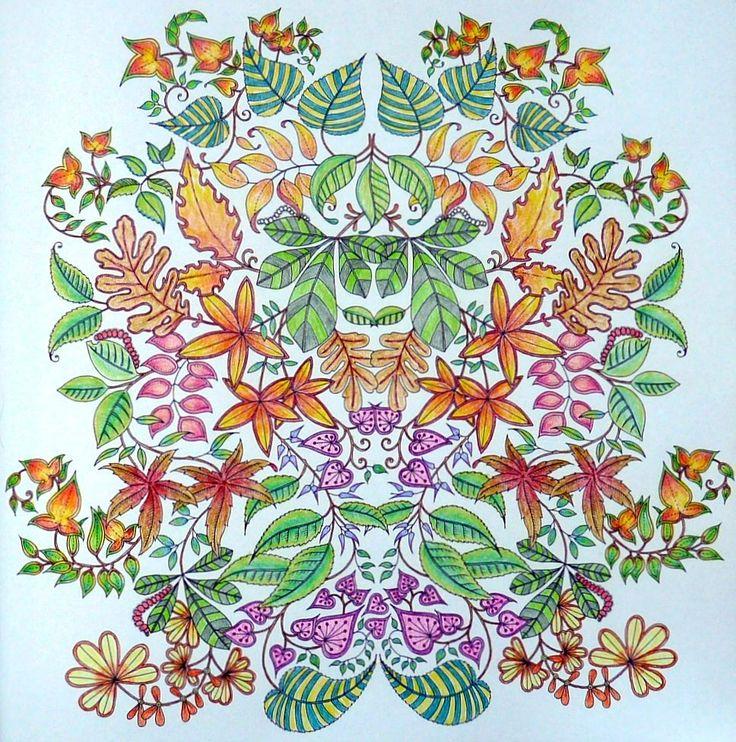 Secret Garden Gekleurd Door Marianne In Het Boek Mijn Geheime Tuin Spring GardenColouringColoring BooksSecret GardensPrismacolorCrayonsMy