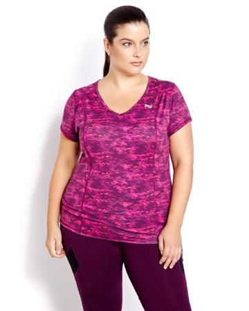 Nola Printed No-Sweat T-ShirtNola Printed No-Sweat T-Shirt--Plus Size active wear is a rare thing for us plus size gals! This website rocks!