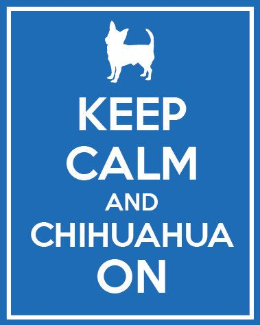 Keep Calm and Chihuahua On Silhouette, Dog Print, Home Decor, 8x10 or 11x14 Art Print, Perfect Gift, Pet Lover Gift on Etsy, $15.00