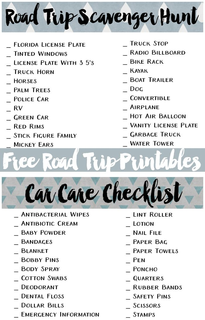 Free Road Trip Printables  Road Trips Ads And Plays