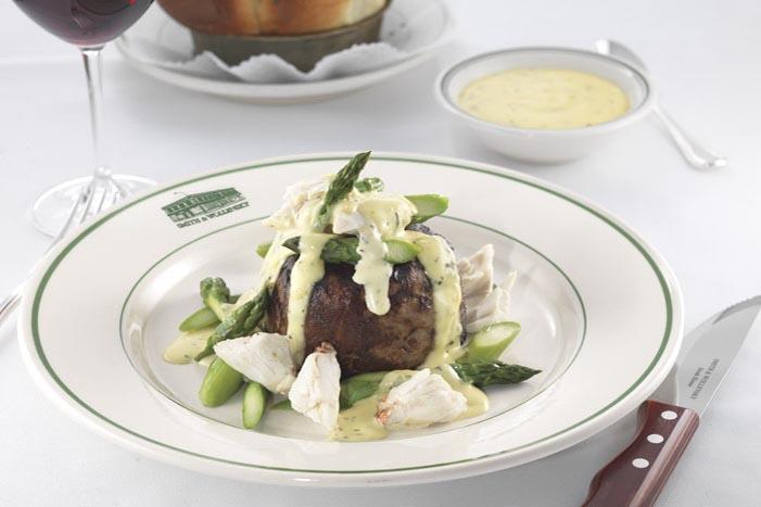 SMITH & WOLLENSKY. Oscar style steak ...filet mignon with crab.